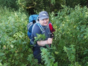 Paul emerging out of the nettles