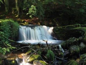 One of the lower Crackpot falls
