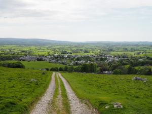 Looking back down Fell Lane towards Ingleton