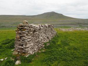 A very short wall above Twistleton Scars