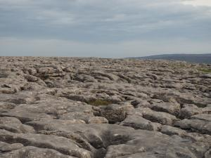 Limestone pavement above Twistleton Scar End