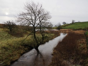 Hettom Common Beck flowing in to Winterburn Reservoir