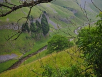 Looking down at Cowside Beck