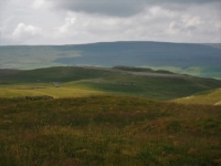 Looking back at Middle House Hill with Fountains Fell in the far distance