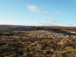 The site of one of the tarns marked on the map