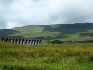 The skies begin to clear as we approach Whernside