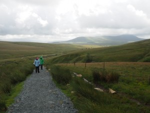 Climbing up Whernside