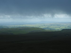 A distant view of Pendle Hill