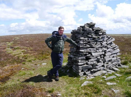 My step-brother Ed by the 'Pile of Stones' to the west of the trig point