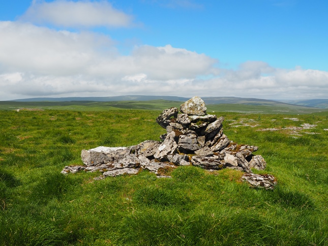 The small cairn on the summit
